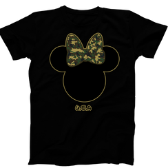 Disney Minnie Army Camo Military Ladies Tshirt Girls Tshirt Baby Bodysuit
