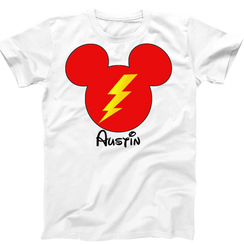 Disney Mickey Mouse Lightning McQueen Cars Boys Tshirt Mens Tshirt Baby Bodysuit