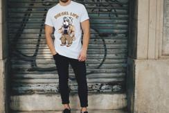 Diesel Life Logo Casual Bulldog Mens T-Shirt