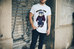 Diesel Life Logo Bandana Bulldog Mens T-Shirt