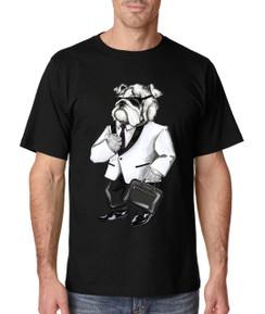 Diesel Life Suit Bulldog Mens T-Shirt