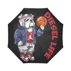 Sun Umbrella Basketball  Bulldog Diesel Life Umbrella Rain Accessories Bulldog Jordan