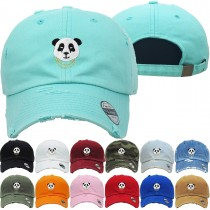 Pander Bear Dad Hat Distressed Baseball Cap  Free 1 Location Text
