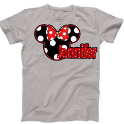 Disney Mickey PolkaDot Personalized Mens Ladies Tshirt Girls Tshirt Baby Bodysuit