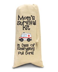 Mom's Survival Kit Wine Bag