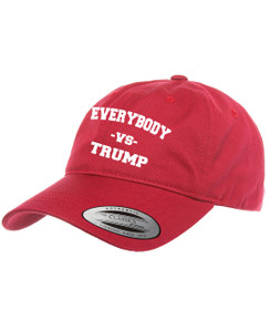 Trump vs Everybody Dad Hat Distressed Baseball Cap  Free 1 Location Text