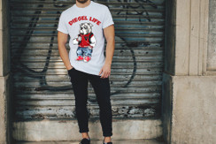 Diesel Life Logo Varsity Jacket Bulldog Mens T-Shirt