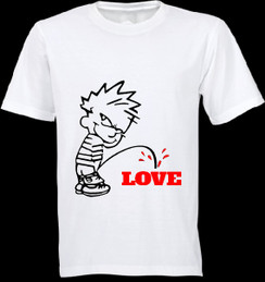 No Love Cartoon T-shirt Ladies T-shirt Mens T-shirt