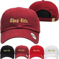 Thug Life Dad Hat Distressed Baseball Cap  Free 1 Location Text