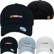 Trap Star Dad Hat Distressed Baseball Cap  Free 1 Location Text