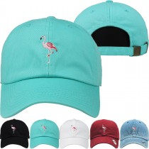 Pink Flamingo Dad Hat Distressed Baseball Cap  Free 1 Location Text