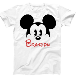 Disney Mickey Personalized Mens Tshirt Boys Tshirt Baby Bodysuit