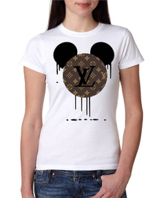 Disney Minnie Mouse Bleed Brown Designer Ladies Tshirt Girls Tshirt Baby Bodysuit