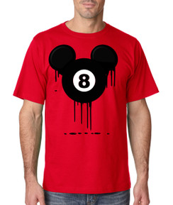 Disney Mickey Bleed Pool Eight Ball 8 ball Tshirt Ladies Tshirt Baby Bodysuit Youth Tshirt