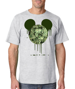 Disney Mickey Mouse Bleed Weed Leaf Beer Liquor Men Tshirt Ladies Tshirt Baby Bodysuit Youth Tshirt