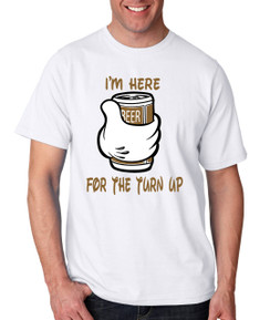 Disney Mickey Mouse Turn up Beer Liquor Men Tshirt Ladies Tshirt Baby Romper Youth Tshirt