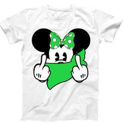 Disney Mickey Middle Finger  Personalized Mens Ladies Tshirt Girls Tshirt Baby Bodysuit