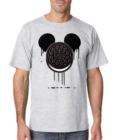 Disney Mickey Bleed Cookie Tshirt Ladies Tshirt Baby Romper Youth Tshirt