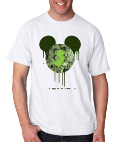 Disney Mickey Mouse NJ New Jersey Bleed Weed Leaf Beer Liquor Men Tshirt Ladies Tshirt Baby Bodysuit Youth Tshirt Green