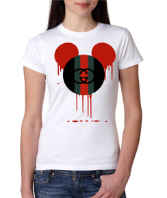 Disney Minnie Mouse Bleed Black Red Green Ladies Tshirt Girls Tshirt Baby Bodysuit