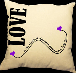 Love Fairy Design 20 x 20 Zippered Cotton Pillow