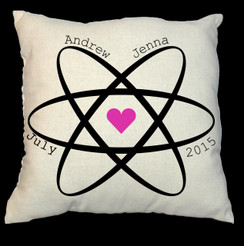 Sphere of Love Design 20 x 20 Zippered Cotton Pillow
