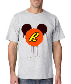 Disney Mickey Bleed Chocolate  Peanut Butter King Tshirt Ladies Tshirt Baby Bodysuit Youth Tshirt