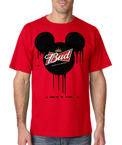 Disney Mickey Bleed King Tshirt Ladies Tshirt Baby Bodysuit Youth Tshirt