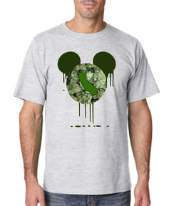 Disney Mickey Mouse CA California Bleed Weed Leaf Beer Liquor Men Tshirt Ladies Tshirt Baby Bodysuit Youth Tshirt Green