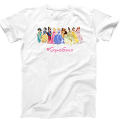 Disney Princess Squad Goals Ladies Tshirt Girls Tshirt Baby Bodysuit