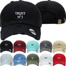 Trust Number One Dad Hat Distressed Baseball Cap  Free 1 Location Text