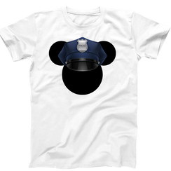 Disney Mickey Police Cop  Personalized Mens Ladies Tshirt Girls Tshirt Baby Bodysuit