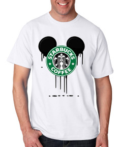 Disney Mickey Bleed Coffee  Tshirt Ladies Tshirt Baby Bodysuit Youth Tshirt
