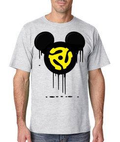 Disney Mickey Spindle Bleed Music Record 45 Men Tshirt Ladies Tshirt Baby Bodysuit Youth Tshirt