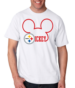 Disney Mickey Outline Steelers Mens Tshirt