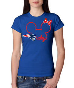 Disney Mickey Patriots Mens Tshirt  Custom Tee