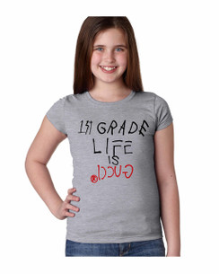 Life is Gucci in School Girl Tshirt Ladies Tshirt