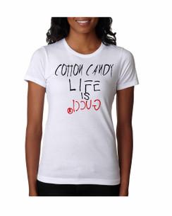 Cotton Candy Life is Gucci Girl Tshirt Ladies Tshirt