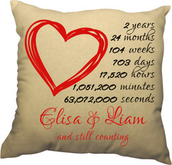 Pillow - Countdown of our Love Design