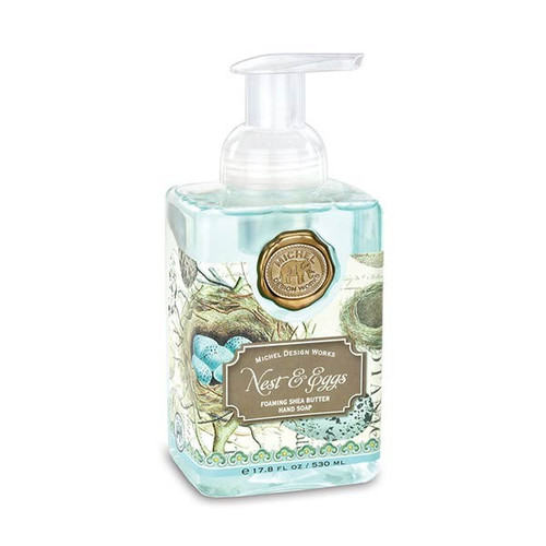 Nest and Eggs Foaming Hand Soap by Michel Design Works - Scent: fresh morning rain
