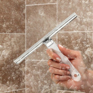 Crystal Clear Shower Squeegee wipes your tiles and glass streak free