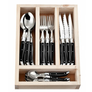 Laguiole 24 Piece Cutlery Set by Jean Neron - Black