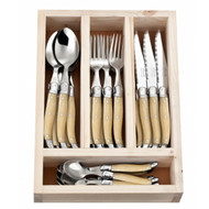 Laguiole 24 Piece Cutlery Set by Jean Neron - Light Horn