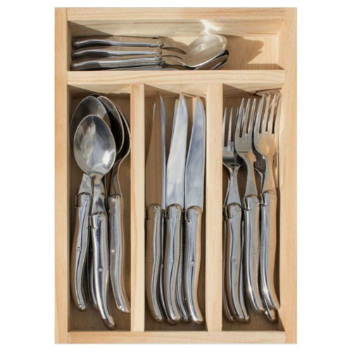 Laguiole 24 Piece Cutlery Set by Jean Neron - Stainless Steel