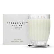 Peppermint Grove Fresh Sage and Cedar Large Candle - 350g