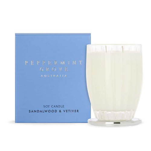 Peppermint Grove Sandalwood and Vetiver Large Candle - 350g
