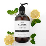 Ladelle All Natural Hand Wash Lemon and Spearmint - No nasties - just essential oils, plant extracts and organic ingredients 500 ml