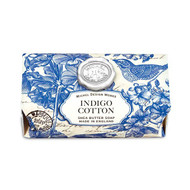 Indigo Cotton Large Bath Soap Bar by Michel Design Works + shea butter and Aloe vera