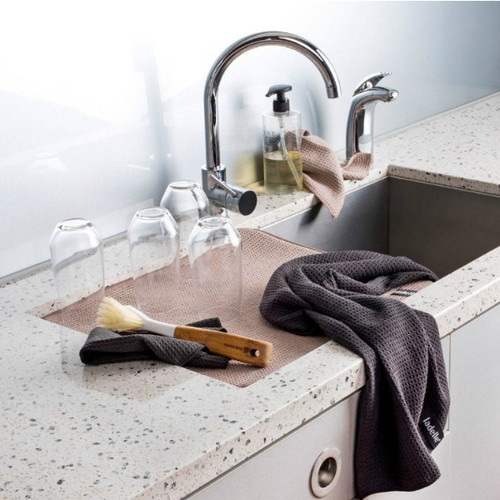 Ladelle Microfibre Kitchen Towel - available in Red, Black and Stone
