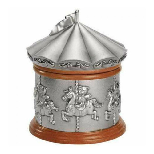 Royal Selangor Merry Go Round Music Box Teddy Bears Picnic Collection